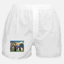 St Francis & Collie Pair Boxer Shorts