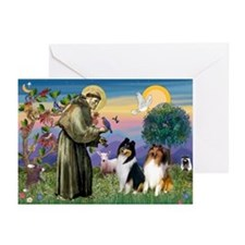 St Francis & Collie Pair Greeting Cards (6)