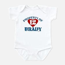 PROPERTY OF (12 heart) BRADY Infant Bodysuit