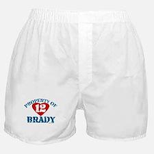 PROPERTY OF (12 heart) BRADY Boxer Shorts