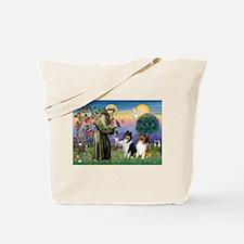 St Francis & Collie Pair Tote Bag