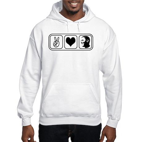 Peace Love Obama Hooded Sweatshirt