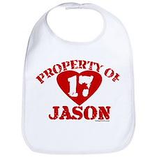 PROPERTY OF (17 heart) JASON Bib