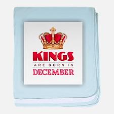 Kings are Born in December baby blanket