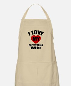 I Love My Cape Verden Wife Apron