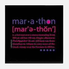 Marathon Defined Tile Coaster