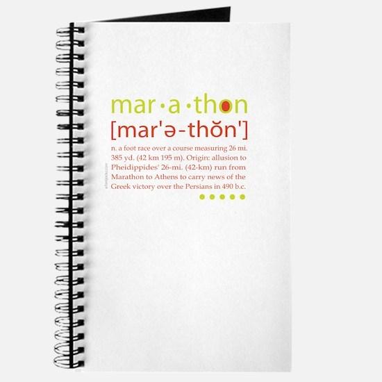 Marathon Defined Journal