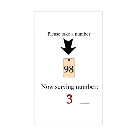Take a number Rectangle Sticker