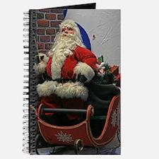 Nostalgic Santa In His Sleigh Journal