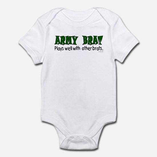 Army Brat Plays well .. brats Infant Creeper