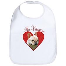 Frenchie Valentine Bib