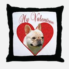 Frenchie Valentine Throw Pillow