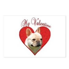Frenchie Valentine Postcards (Package of 8)