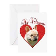 Frenchie Valentine Greeting Card