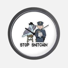 Funny Stop snitching Wall Clock