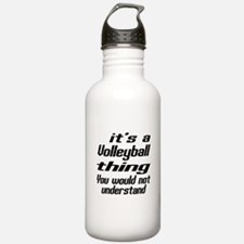 It Is Volleyball Thin Water Bottle