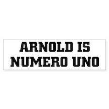 ARNOLD is NUMERO UNO Bumper Bumper Sticker