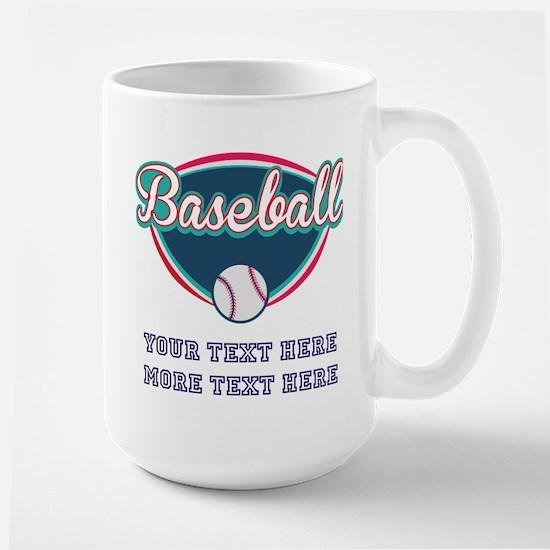 Custom Baseball Fan Large Mug