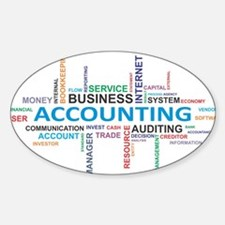 word cloud - accounting Decal