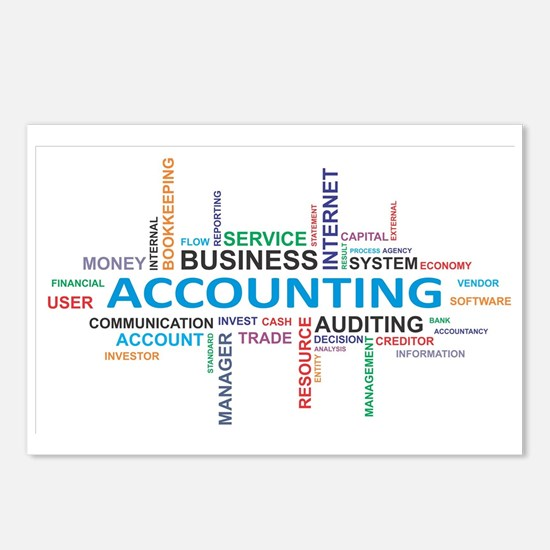 word cloud - accounting Postcards (Package of 8)
