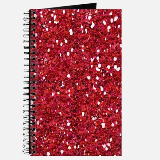 Red Sparkling Glitter Journal