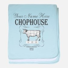 Vintage Chophouse baby blanket