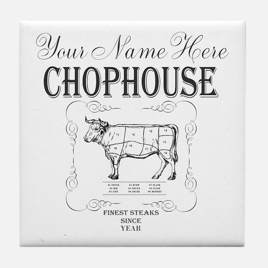 Vintage Chophouse Tile Coaster