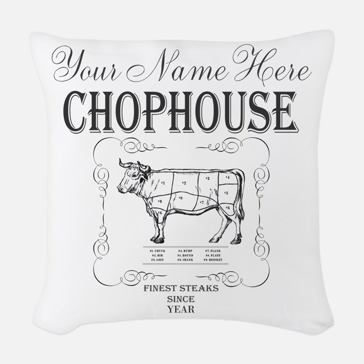 Vintage Chophouse Woven Throw Pillow