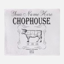 Vintage Chophouse Throw Blanket