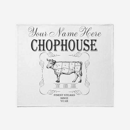 Vintage Chophouse Throw Blanket