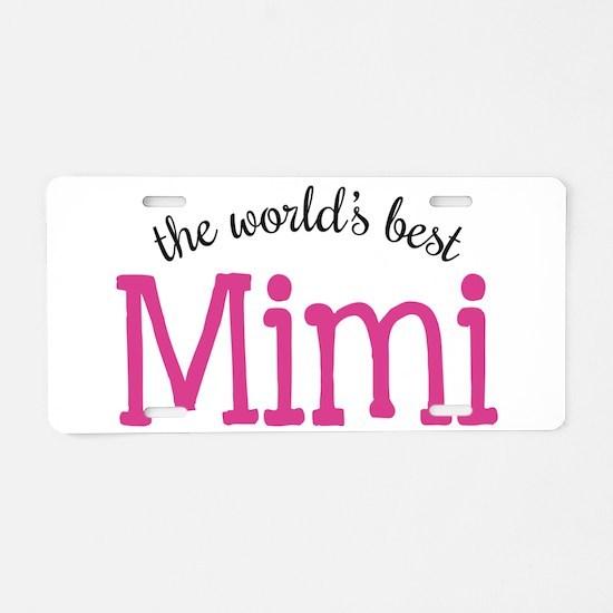 World's Best Mimi Aluminum License Plate