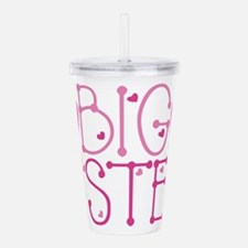 Heart Big Sister Acrylic Double-wall Tumbler