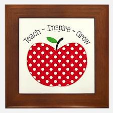 Teach Inspire Grow Framed Tile