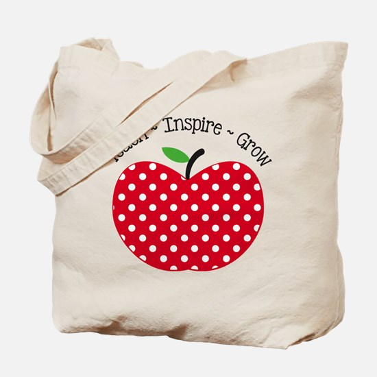 Teach Inspire Grow Tote Bag