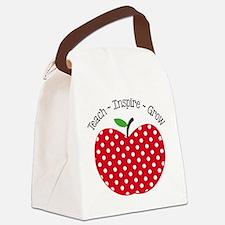 Teach Inspire Grow Canvas Lunch Bag