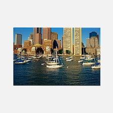 Unique Boston skyline Rectangle Magnet