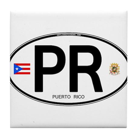 Puerto Rico Euro Oval Tile Coaster
