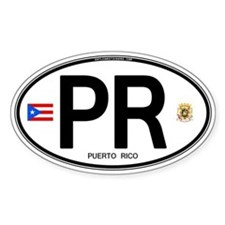 Puerto Rico Euro Oval Oval Decal