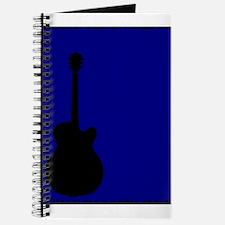 Guitar Blue Background Journal