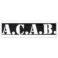 The A.C.A.B. Bumper Bumper Sticker