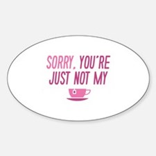Cup Of Tea Sticker (Oval)