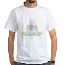 Yoga Buddha 5 White T-Shirt