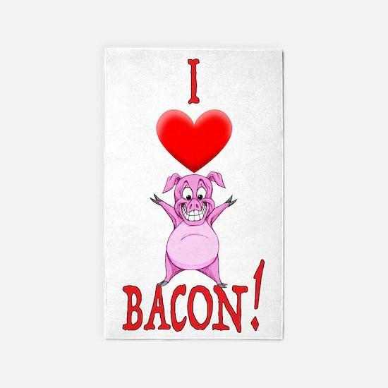 I Love Bacon! Area Rug