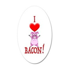I Love Bacon! Wall Decal