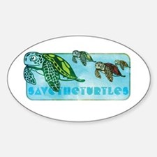 Four Turtles at Sea Decal