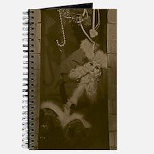 Antiqued Santa In The Chimney Journal