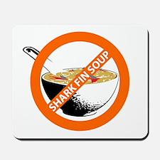 save our seas no shark fin soup Mousepad