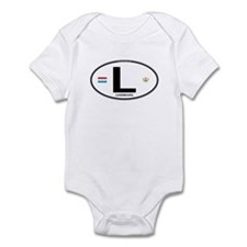 Luxembourg Euro Oval Infant Bodysuit