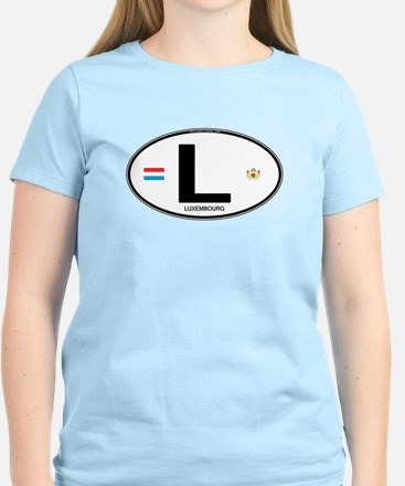 Luxembourg Euro Oval T-Shirt