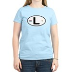 Luxembourg Euro Oval Women's Light T-Shirt
